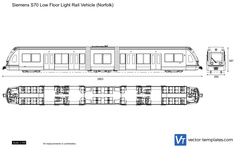 Siemens S70 Low Floor Light Rail Vehicle (Norfolk)