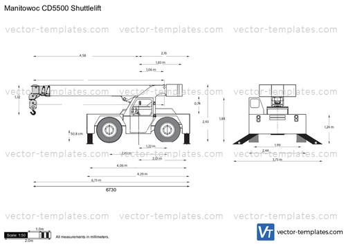 Manitowoc CD5500 Shuttlelift