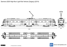 Siemens S200 High-floor Light Rail Vehicle (Calgary)