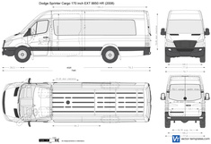 Dodge Sprinter Cargo 170 inch EXT 8850 HR