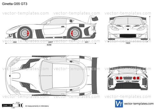Templates Cars Various Cars Ginetta G55 Gt3