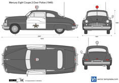 Mercury Eight Coupe 2-Door Police