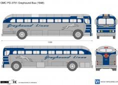 GMC PD-3751 Greyhound Bus