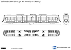 Siemens S70 Ultra Short Light Rail Vehicle (Salt Lake City)