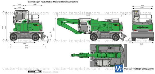 Sennebogen 730E Mobile Material Handling machine