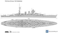 RN Conte di Cavour 1933 (Battleship)