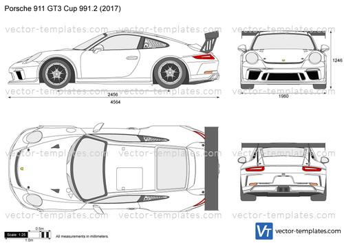 Templates - Cars - Porsche - Porsche 911 GT3 Cup 991.2