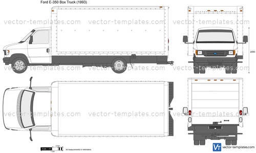 templates cars ford ford e 350 box truck