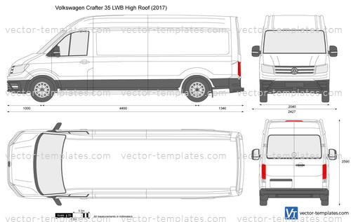 Templates Cars Volkswagen Volkswagen Crafter 35 Lwb
