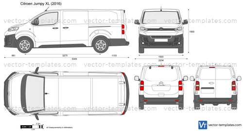 templates cars citroen citroen jumpy xl