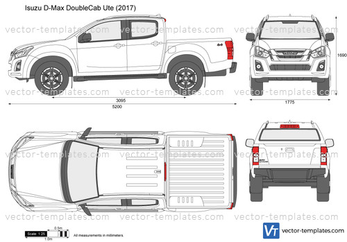 Templates - Cars - Isuzu - Isuzu D-Max Double Cab Ute