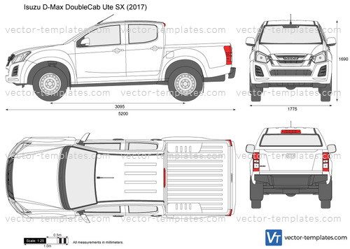 Templates - Cars - Isuzu - Isuzu D-Max Double Cab Ute SX