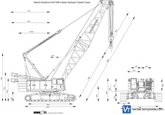 Hitachi Sumitomo SCX1200-2 Asian Hydraulic Crawler Crane