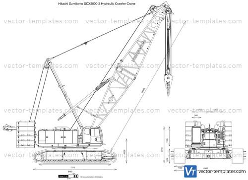 Hitachi Sumitomo SCX2000-2 Hydraulic Crawler Crane