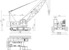 Hitachi Sumitomo SCX550 Hydraulic Crawler Crane