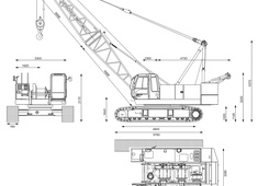 Hitachi Sumitomo SCX550E Hydraulic Crawler Crane