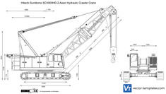 Hitachi Sumitomo SCX800HD-2 Asian Hydraulic Crawler Crane