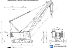 Hitachi Sumitomo SCX900HD-2 Asian Hydraulic Crawler Crane