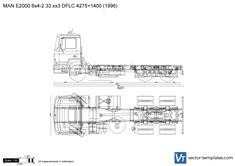 MAN E2000 6x4-2 33.xx3 DFLC 4275+1400