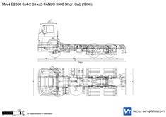 MAN E2000 6x4-2 33.xx3 FANLC 3500 Short Cab