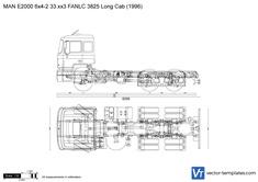 MAN E2000 6x4-2 33.xx3 FANLC 3825 Long Cab