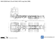 MAN E2000 6x4-2 33.xx3 FANLC 4075 Long Cab