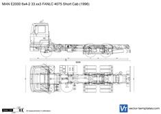 MAN E2000 6x4-2 33.xx3 FANLC 4075 Short Cab