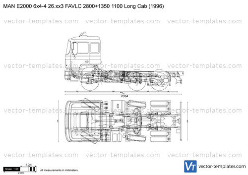 MAN E2000 6x4-4 26.xx3 FAVLC 2800+1350 1100 Long Cab