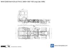 MAN E2000 6x4-4 26.xx3 FAVLC 2800+1350 1100 Long Cab