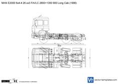 MAN E2000 6x4-4 26.xx3 FAVLC 2800+1350 900 Long Cab