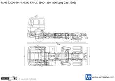 MAN E2000 6x4-4 26.xx3 FAVLC 3500+1350 1100 Long Cab