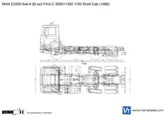 MAN E2000 6x4-4 26.xx3 FAVLC 3500+1350 1100 Short Cab