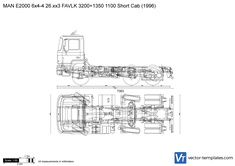 MAN E2000 6x4-4 26.xx3 FAVLK 3200+1350 1100 Short Cab