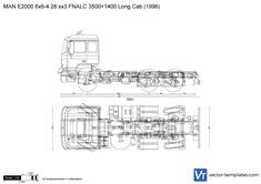 MAN E2000 6x6-4 28.xx3 FNALC 3500+1400 Long Cab