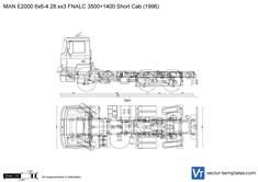 MAN E2000 6x6-4 28.xx3 FNALC 3500+1400 Short Cab