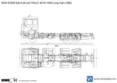 MAN E2000 6x6-4 28.xx3 FNALC 4075+1400 Long Cab