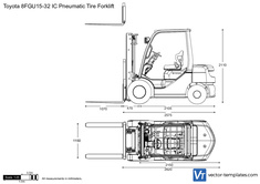 Toyota 8FGU15-32 IC Pneumatic Tire Forklift