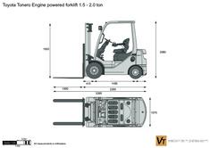 Toyota Tonero Engine powered forklift 1.5 - 2.0 ton