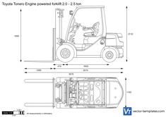 Toyota Tonero Engine powered forklift 2.0 - 2.5 ton