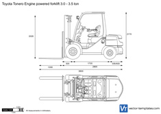 Toyota Tonero Engine powered forklift 3.0 - 3.5 ton