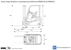 Toyota Traigo 80 Electric counterbalanced forklift truck 8FBMKT20.25 8FBMT25