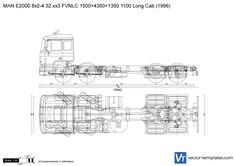 MAN E2000 8x2-4 32.xx3 FVNLC 1500+4350+1350 1100 Long Cab