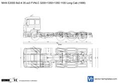 MAN E2000 8x2-4 35.xx3 FVNLC 3200+1350+1350 1100 Long Cab