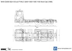 MAN E2000 8x2-4 35.xx3 FVNLC 3200+1350+1350 1100 Short Cab