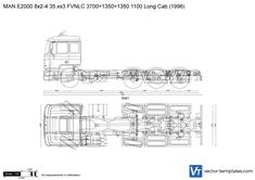 MAN E2000 8x2-4 35.xx3 FVNLC 3700+1350+1350 1100 Long Cab