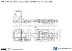 MAN E2000 8x2-4 35.xx3 FVNLC 3700+1350+1350 1100 Short Cab