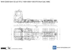 MAN E2000 8x4-4 32.xx3 VFLC 1500+3550+1350 975 Short Cab