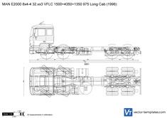 MAN E2000 8x4-4 32.xx3 VFLC 1500+4350+1350 975 Long Cab