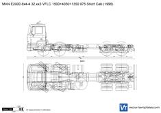 MAN E2000 8x4-4 32.xx3 VFLC 1500+4350+1350 975 Short Cab