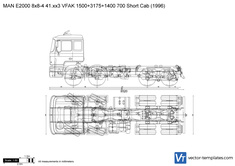 MAN E2000 8x8-4 41.xx3 VFAK 1500+3175+1400 700 Short Cab